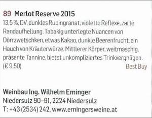 Falstaff-Artikel Merlot Reserve